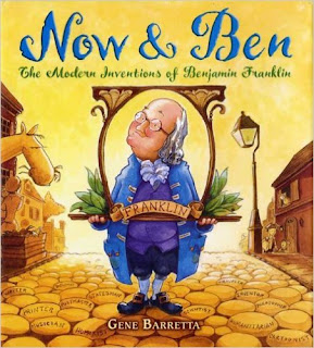 http://www.amazon.com/Now-Ben-Inventions-Benjamin-Franklin/dp/0312535694/ref=sr_1_1?ie=UTF8&qid=1443198316&sr=8-1&keywords=now+and+ben