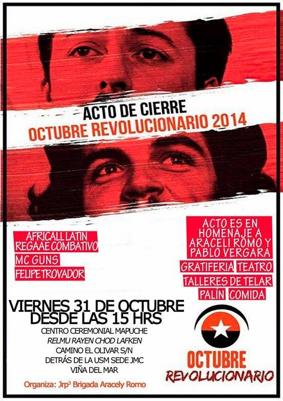 VIÑA DEL MAR: CIERRE OCTUBRE REVOLUCIONARIO V REGION