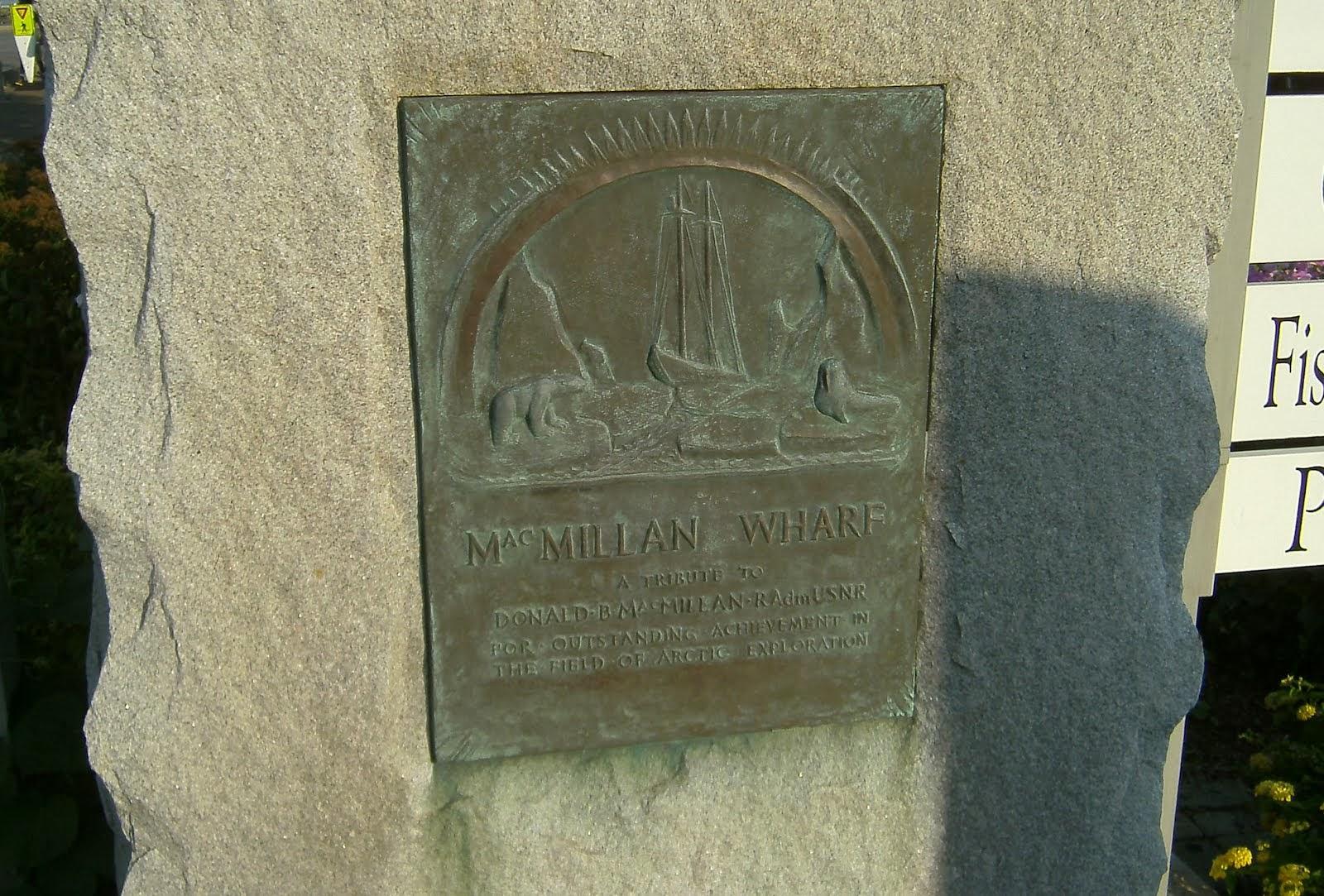 MacMillan Wharf Plaque