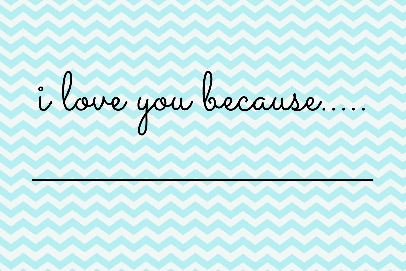 Free Valentines Printable - Chevron Blue Printable - DIY Valentines Project