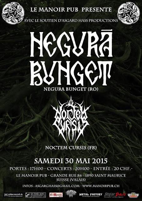 Negură Bunget / Noctem Cursis @ Le Manoir Pub, Saint Maurice, Suisse 30/05/2015