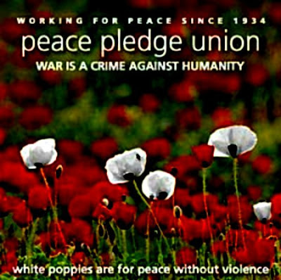 Peace Pledge White Poppies for Remembrance Sunday