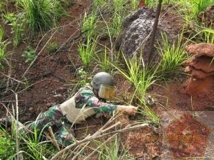 Tim Jihandak Konga XX-J Berhasil Jinakan Ranjau Darat di Kongo
