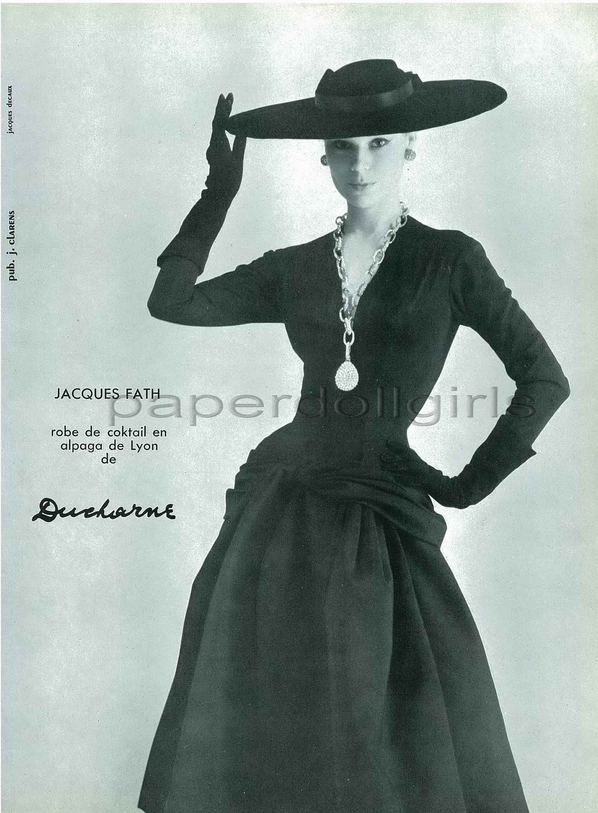 paris retro black dress