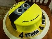 Minion Face With Choc Moist Cake