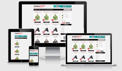 Boeka Shop Blogger Template | Template Blogger Online Shop yang Responsive