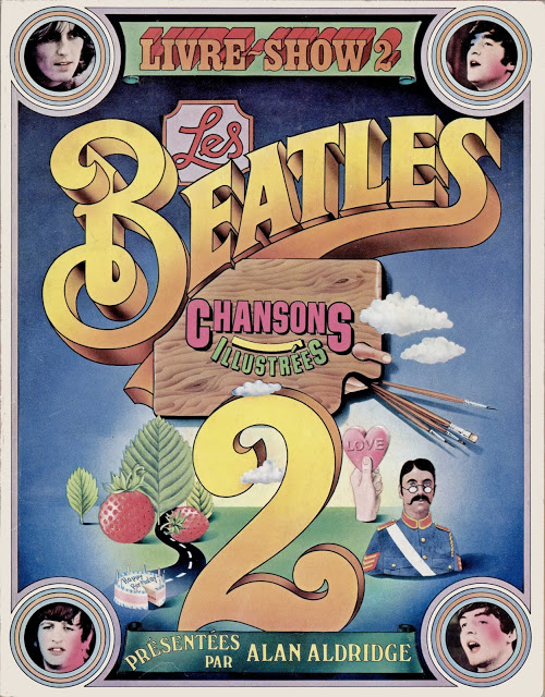 Les Beatles. Livre-show des chansons illutrées 2 tomes. Alan Aldridge - Scan: madbeatle46