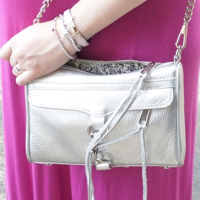 AwayFromTheBlue | Accessories: Rebecca Minkoff metallic silver mini MAC Hermes clic clac