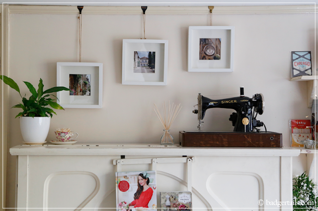Workspace Makeover - White Piano & 1930s Singer Sewing Machine
