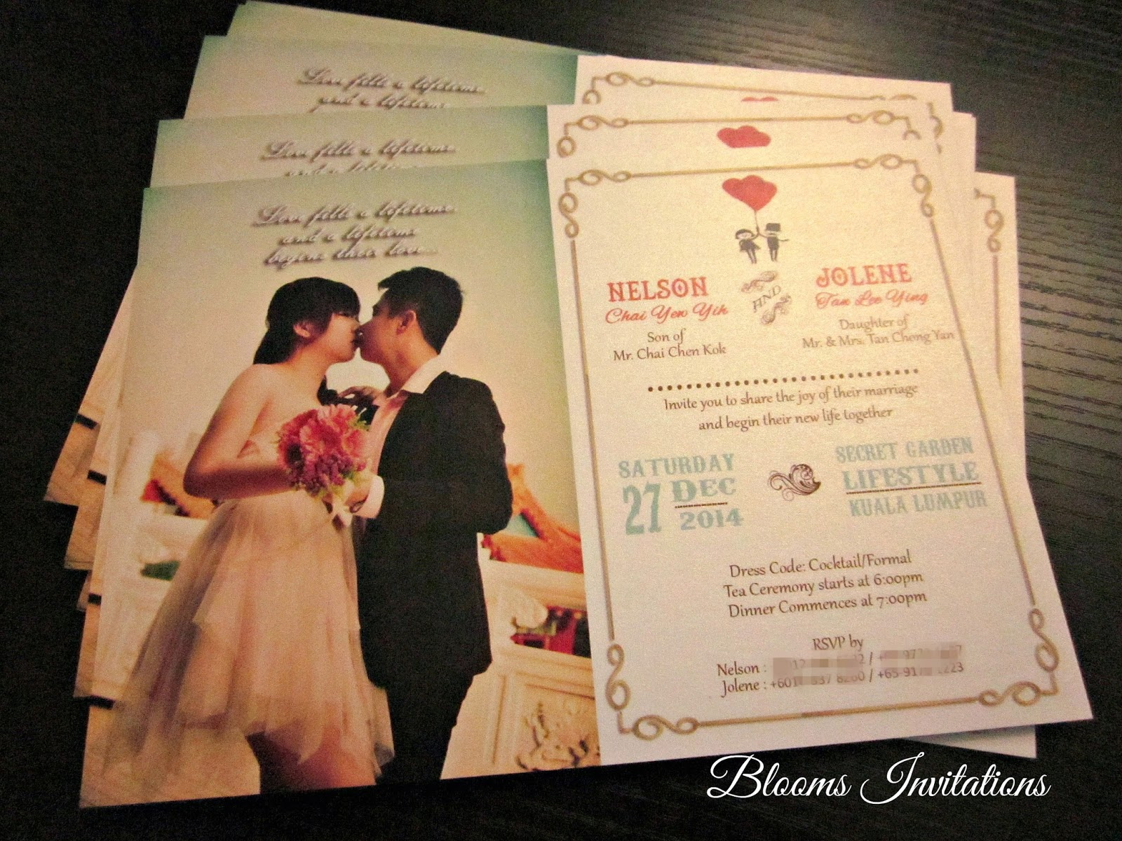 handmade custom wedding invitation Malaysia wedding stationery – Chinese English Wedding Invitations