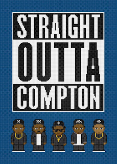 N.W.A - Straight Outta Compton - Cross Stitch PDF Pattern Download