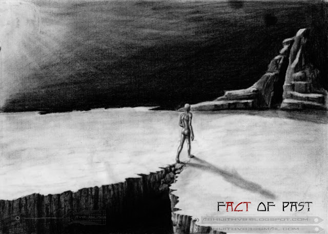 the truth behind man walk art artist pencil drawing draw paper traditional surreal horror sadness sad pain agony love  death concept abhijithvb abhijith vb avb india kerala nothing some thing