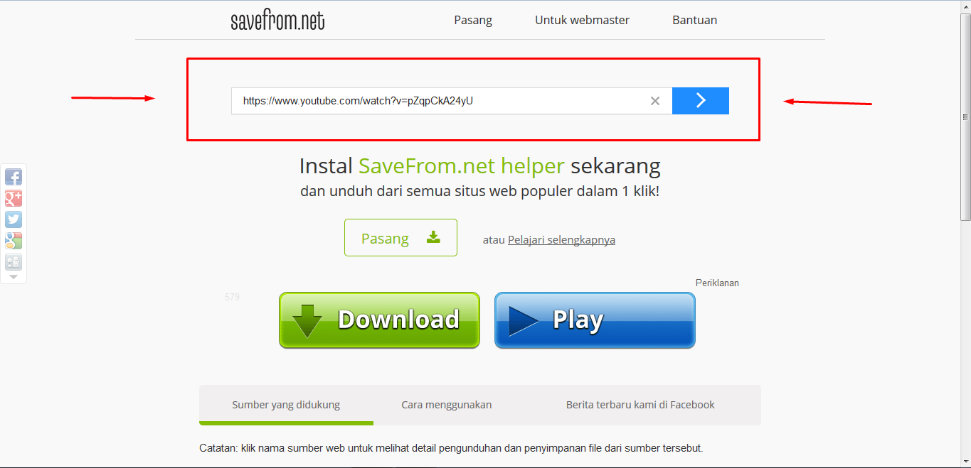 youtube how to savefrom to download facebook
