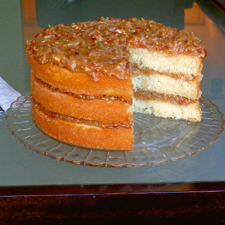 White Chocolate Cake with Coconut Pecan Frosting ...from the kitchen ...