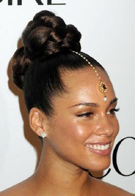 Topknot Frisur von Alicia Keys