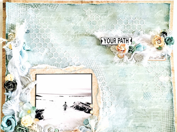 By The Sea - Scrapbook Page