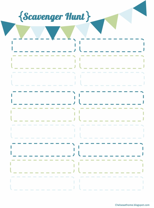Pin Blank Scavenger Hunt Template Cake on Pinterest