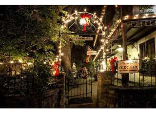 Light Up Your Life - through the end of January! 1 Front+Gate+night St. Francis Inn St. Augustine Bed and Breakfast