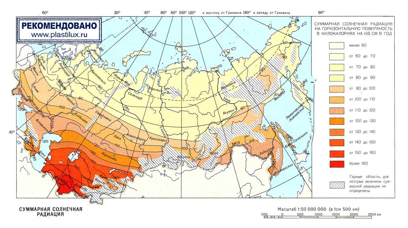 Количество суммарной солнечной