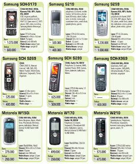 Daftar Harga Handphone Termurah Tahun 2012 Daftar Harga Handphone Termurah Tahun 2012
