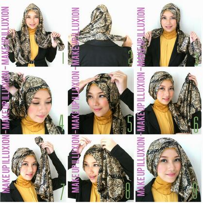 Hijab Modern Untuk Ke PestaTutorial Hijab Versi Gambar
