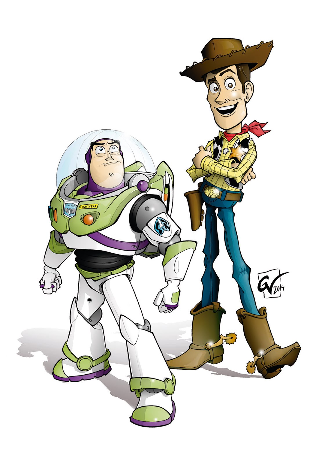 Guille Villegas Art Woody y Buzz Lightyear Toy Story