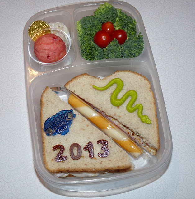 2013 year of the snake bento