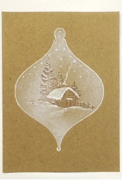 Inkylicious Winter Bauble - Faux Parchment
