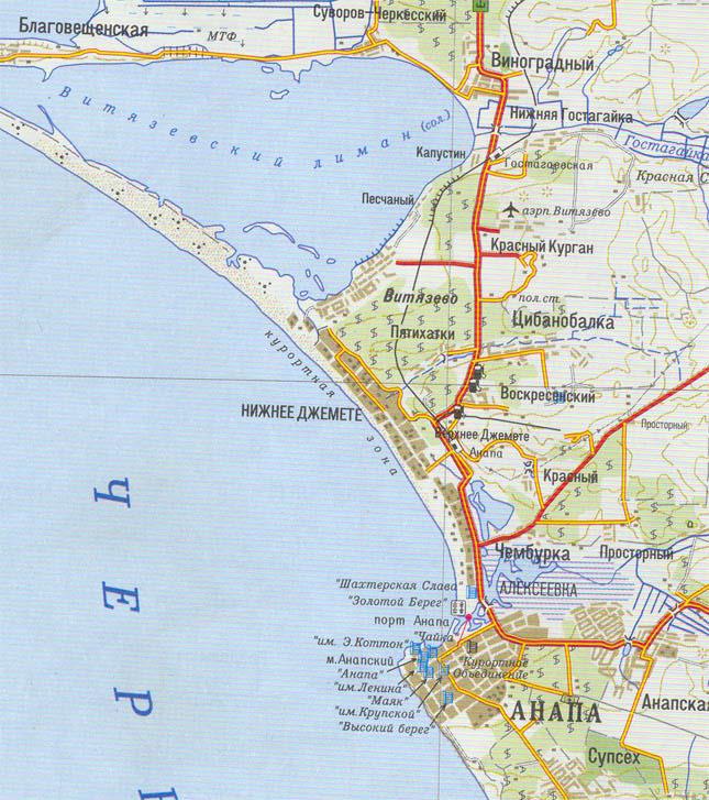 Карта пионерского проспекта анапае