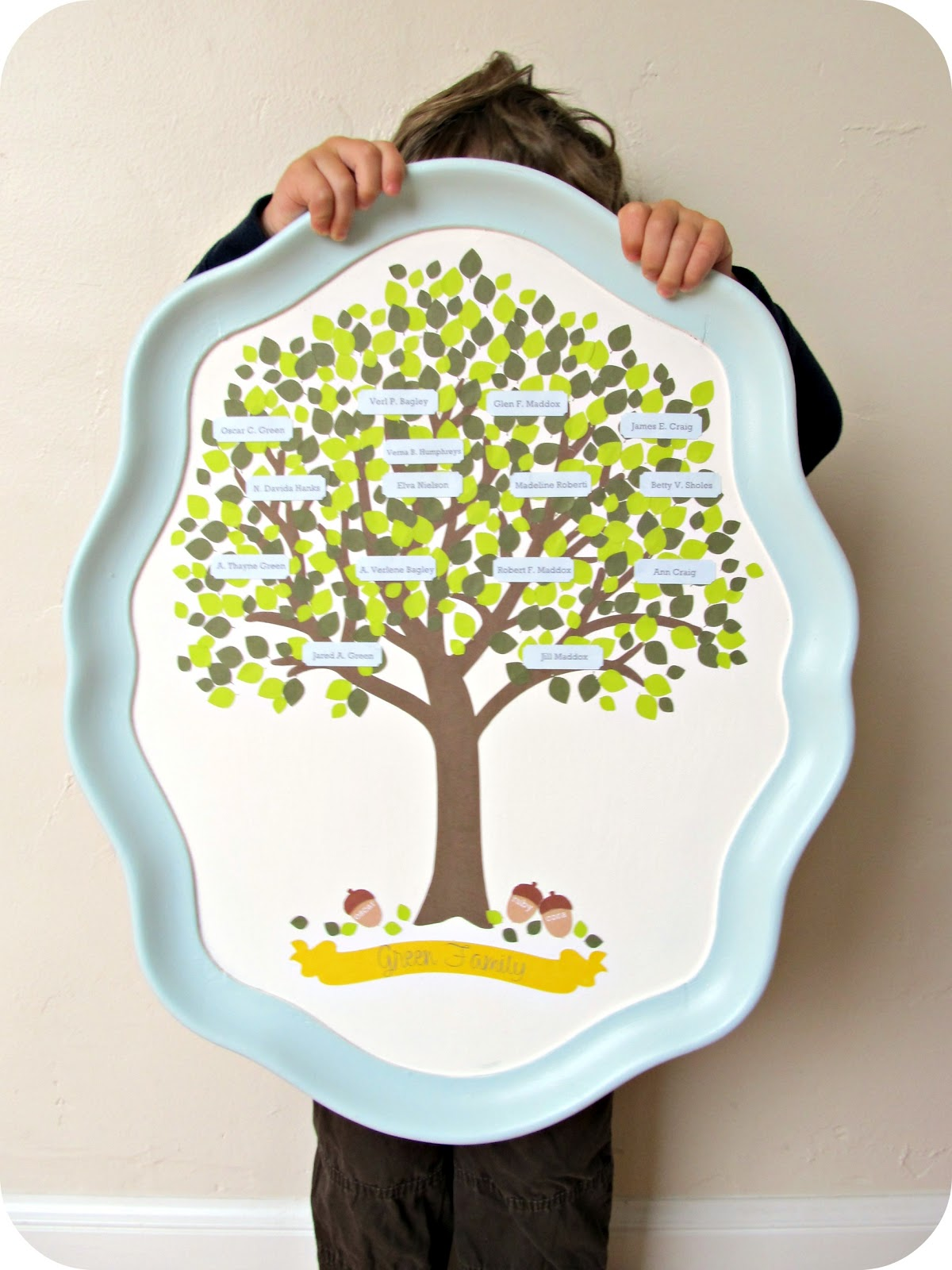 Image result for family tree serving tray
