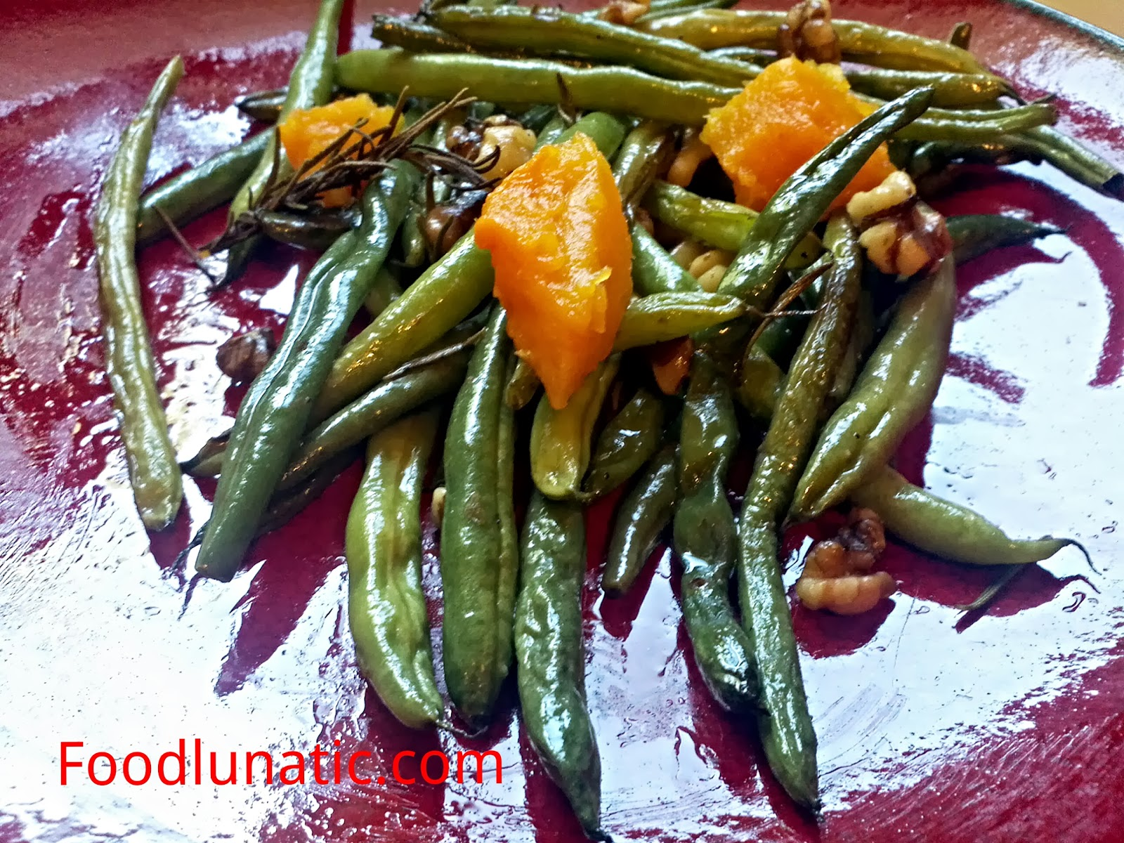 Food Lunatic: Roasted Green Beans with Butternut Squash ...