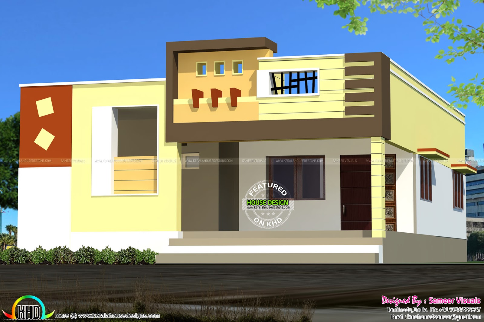 Single Floor House Elevation Models : October kerala home design and floor plans