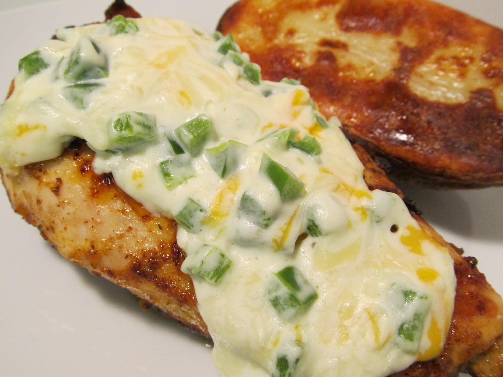 Jenn's Food Journey: Grilled Jalapeno Popper Topped Chicken