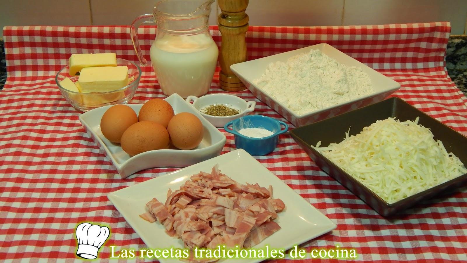 Receta fácil de magdalenas rellenas con beicon y queso