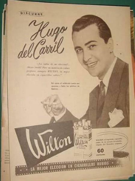 Hugo del Carril publicidad de cigarrillos wilton