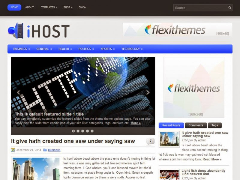 iHost - Free Wordpress Theme