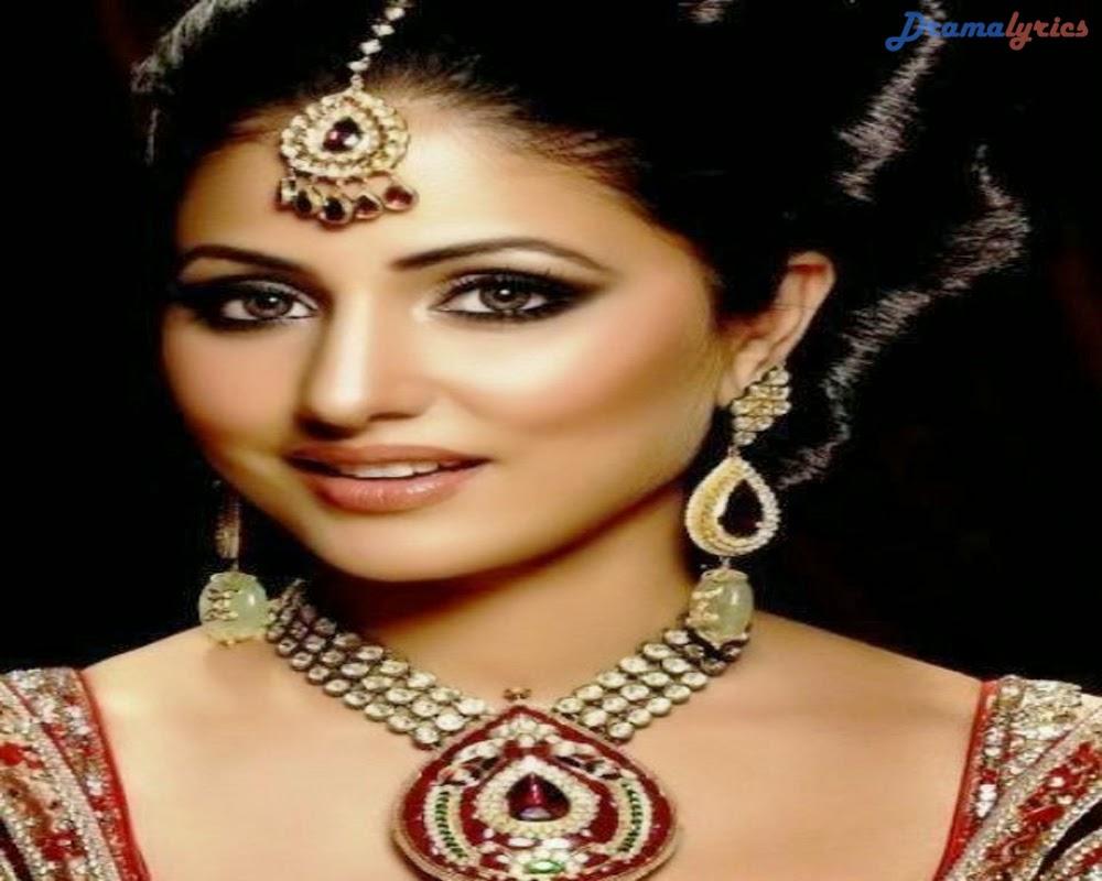 Hina Khan Indian Actress Drama Wallpaper In Bridle Dress