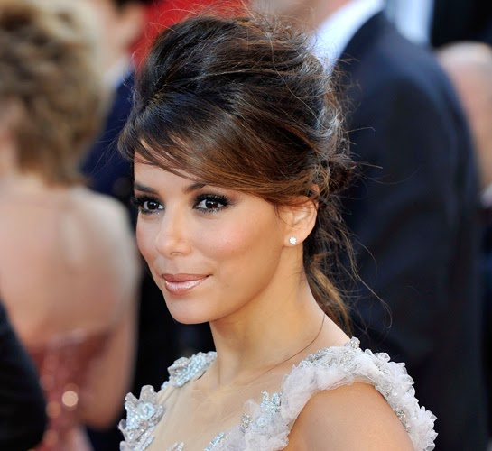 Eva Longoria red carpet messy updo