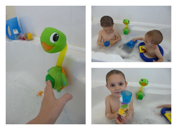 The Shower Button Was Very Easy To Press Even Charlie Could Do It And Great See Both Boys Enjoying Water Splashing Onto Them