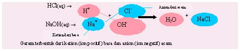Reaksi pada Asam, Basa, dan Garam