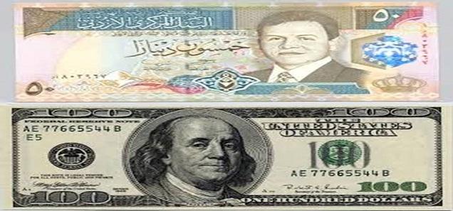 سعر الدولار في الأردن اليوم الإثنين 2016/01/18