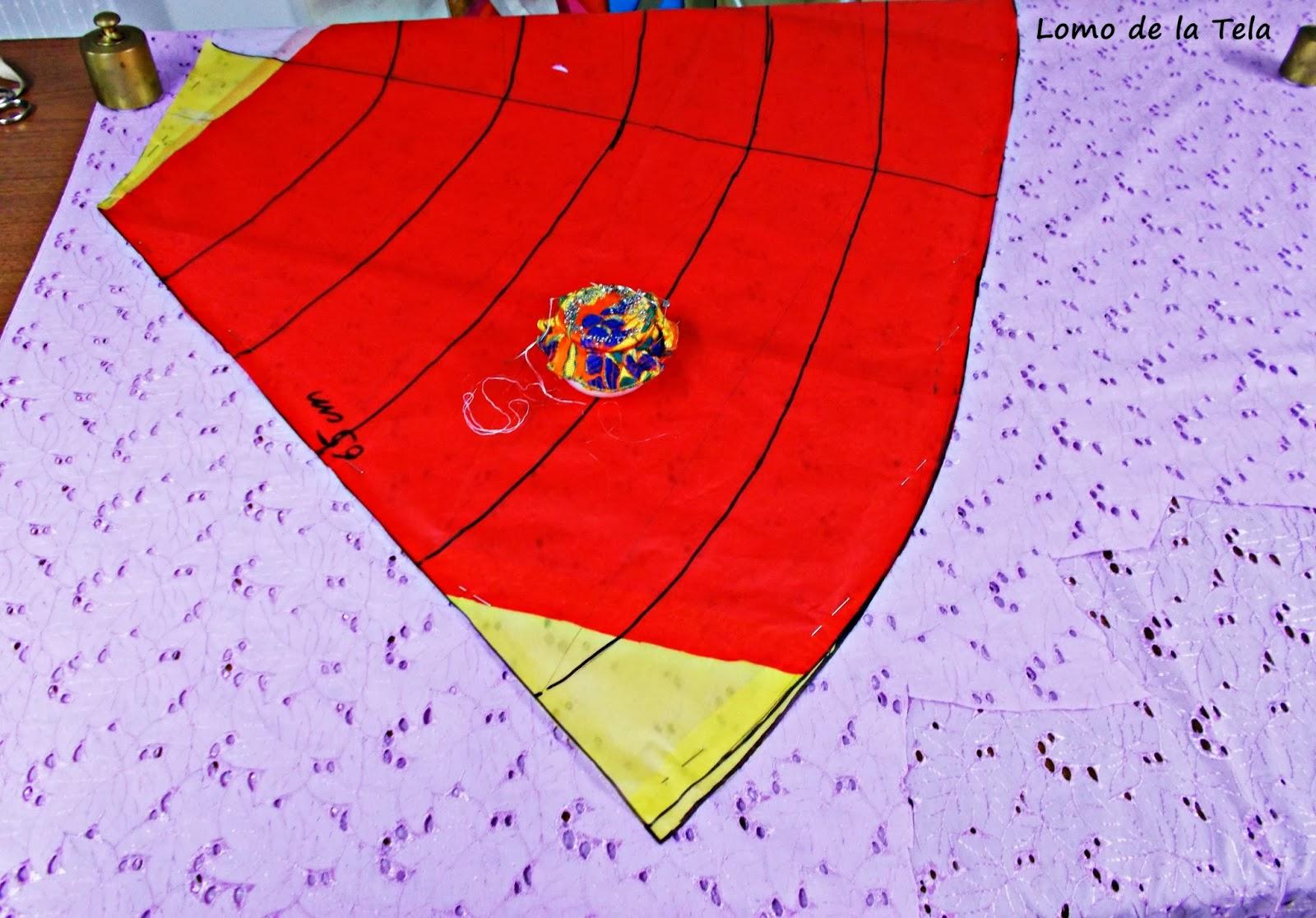 Traje-vestido-flamenca-patrón-paso a paso-costura-volantes-enagua-3