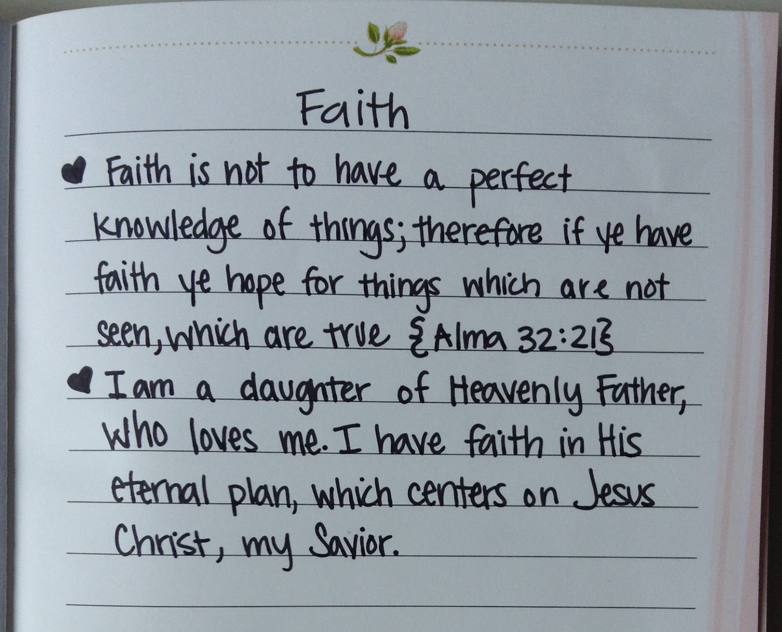 my personal statement of faith