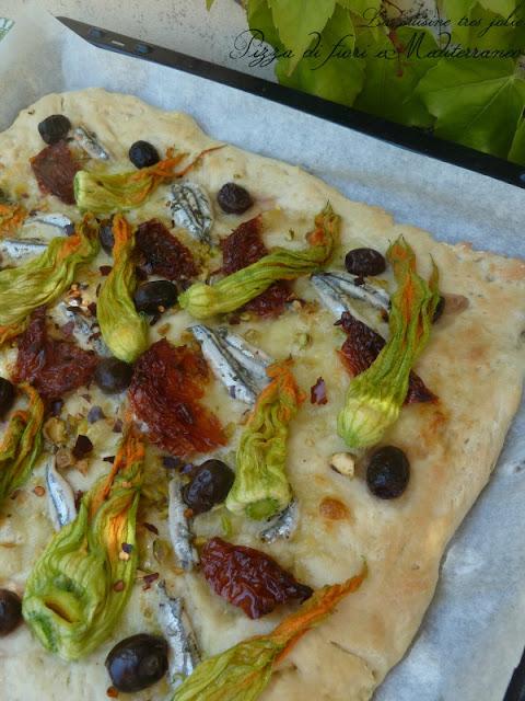 pizza di fiori e mediterraneo