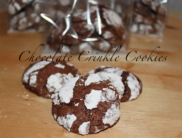 Chocolate crinkle cookies