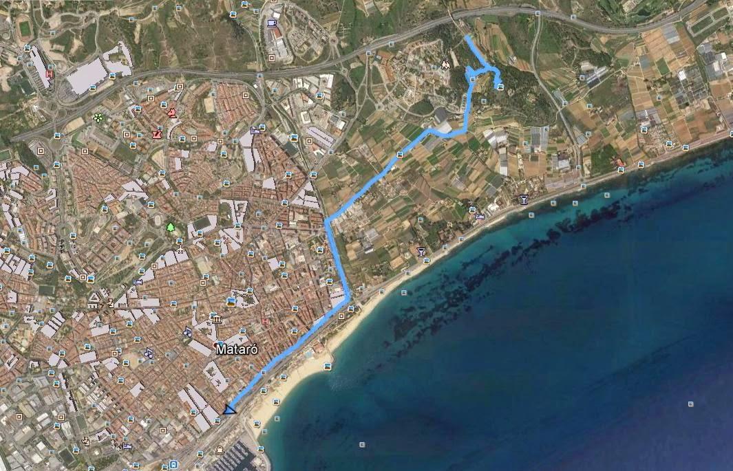 Recorregut: Mataró-Turó d'Onofre Arnau