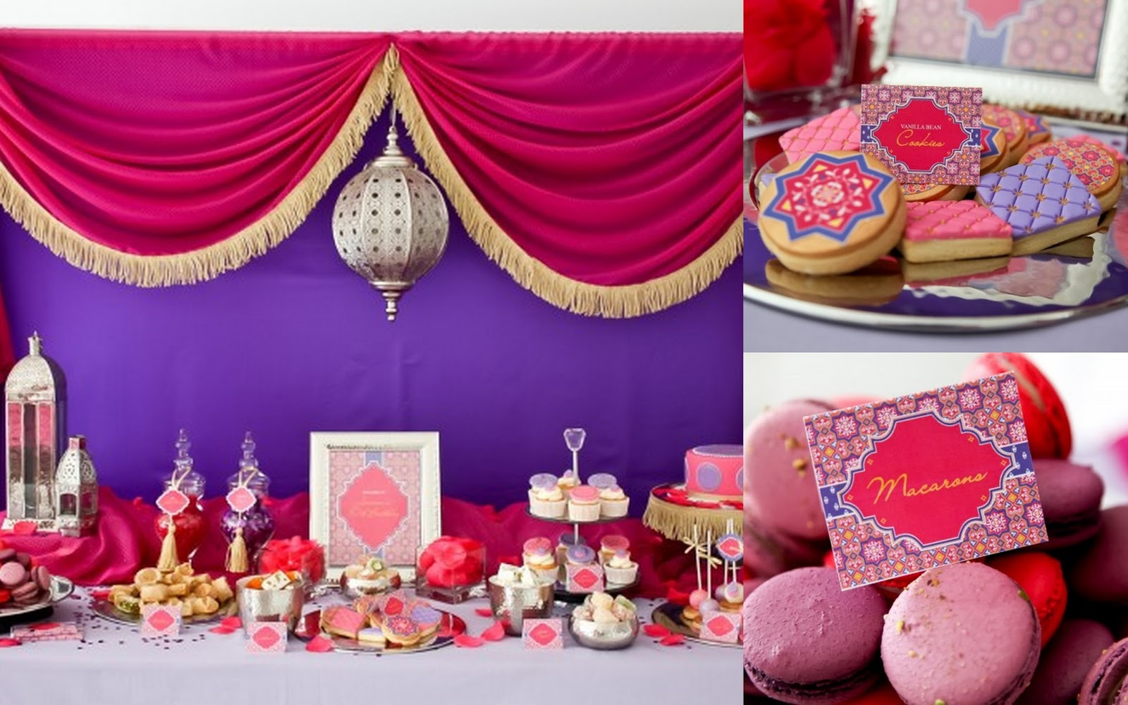 This Stunning Moroccan Baby Shower Was Styled By Lilyshop. I Love This  Color Scheme Or Orange/hot Pink/purple And Gold.