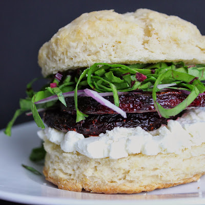 Beet and Goat Cheese Biscuit Sandwich