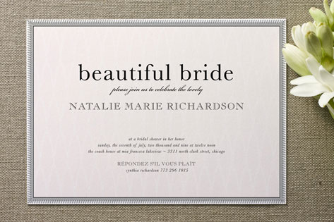 classic bridal shower invitations these cards are embellished with embossed texture and thermography in which you will find a perfect one for yourself