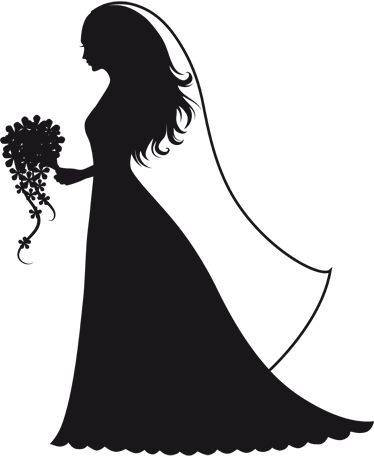 ForgetMeNot: bride and groom silhouettes